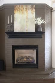 if i ever have a brick fireplace i want to remember this paint mantle