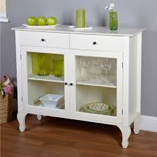 buffet with glass doors. Antique White Sideboard Buffet Console Table With Glass Doors E