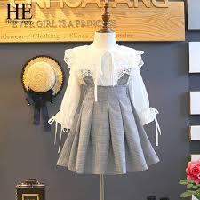 <b>HE Hello Enjoy Children</b> Clothes Girl Autumn Long Sleeved Lace ...