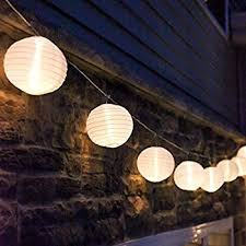 outdoor lantern lighting. White Outdoor String Light, 10 Mini Lanterns, 1 Plugin Strand, Lantern Lighting T