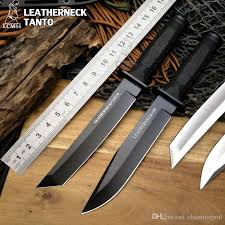 Cold Steel Leatherneck Tanto Hunting Knife D2 Blade With Fixed Cold Steel Kitchen Knives