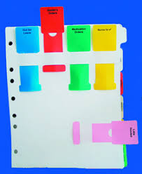 Medical Chart Flag Alert System Custom Poly Chart Divider Index Charts Divider Sets