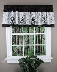 covina valance black white new kitchen curtains and valances