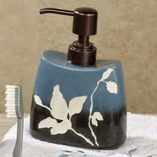 Brown Bathroom Accessories Passell Blue And Brown Ceramic Bath Accessories