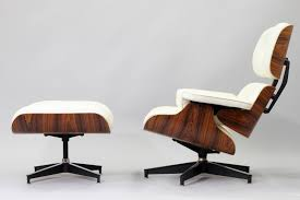 modern chair and ottoman modern white italian leather eames lounge chair and ottoman replica