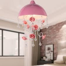Jiahong Moderne Kristall Kronleuchter Rose Blume Rosa