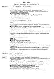 Download Analyst, Sales Support Resume Sample as Image file