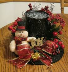 snowman top hats decorations handmade snowman hat christmas decor table decor black red with xmas and winter crafts christmas decorations