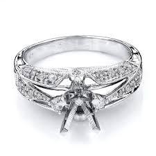 14k Gold Tacori Style Diamond Engagement Ring Setting 0 51ct Mounting
