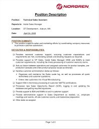 Retail Manager Sales Sales Manager Job Description Template Resume