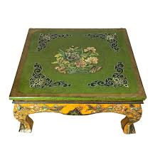 asian tibetan hand painted coffee table