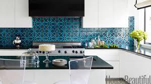 kitchen blue tiles texture. Kitchen Design Town House Blue Tile Black Splash Thomas Tiles Color Texture