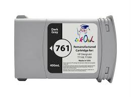 Remanufactured 400mL <b>HP</b> #<b>761 DARK</b> GRAY Cartridge for ...