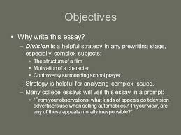 classification essay ppt video online  objectives why write this essay