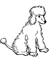 Small Picture Coloring sheets Novas Standard Poodles Clip Art Library