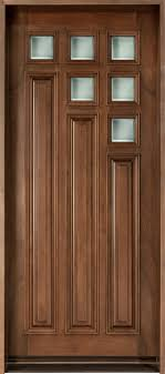 Unusual Single Front Doors Modern Door Custom Solid Wood With Walnut