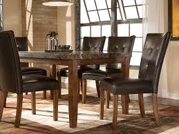Dining Room Dining Table With Leather Chairs Beautiful Walnut ...