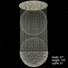 brizzo lighting double sphere modern foyer crystal scenic disco ball