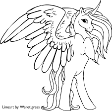 Small Picture Unicorn coloring pages printable 14 winged unicorn coloring pages