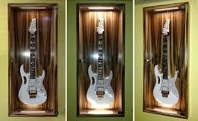 lighting for display cabinets. bespoke guitar display case led lighting steve vai jem7v for cabinets