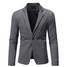 Amazon Com Mens Blazer Casual Solid Solid One Button Fit