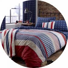 catherine lansfield stars and stripes american flag duvet cover set single
