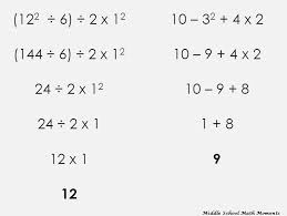 order of operations math problems clipart