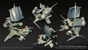 artstation dota 2 the flying dutchman gyrocopter set adrian