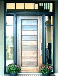 contemporary front doors modern front doors with side panels