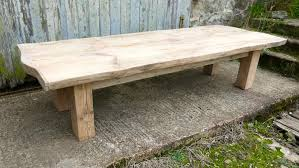 rustic bleached pine coffee table art furniture midcentury retro and vintage coffee tables alt5