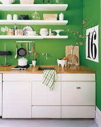 Pared Pintada De Verde En La Cocina