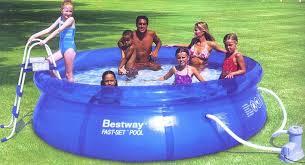Inflatable Above Ground Swimming Pool Fast Set 12 x 36 BI PFS12