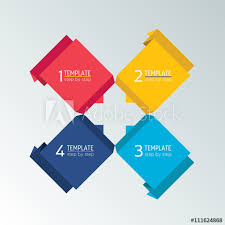 Four Square Chart Template Four Step Chart Template Scheme Tab Infographic Square
