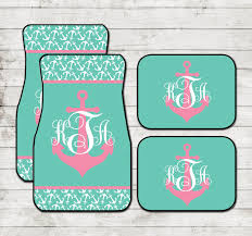 car floor mats for women. Nautical Anchor Car Floor Mats Anchors Monogram Personalized Custom Monogrammed Gifts Cute Accessories For Women Carmats Decor