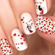 Kissing Mickey & Minnie Mouse Disney nail polish strips