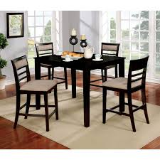 espresso dining room table best of furniture of america yevana contemporary 5 piece counter height of