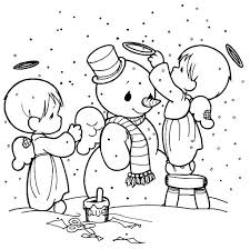Precious Moments Coloring Pages Christmas P7894 Precious Moments