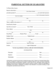 19 Printable Personal Loan Guarantee Letter Sample Forms And