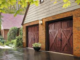 ci amarr wood garage door tudor style s4x3 posite wood