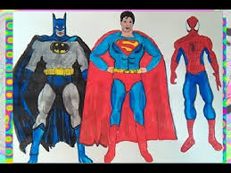 Lego superman coloring page | free printable coloring pages. Superman Batman Vs Spiderman Superheroes How To Colors For Kids Coloring Pages Book Youtube