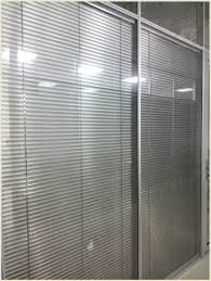 aluminium sliding louver door with fixed panel