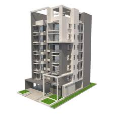 Apartment Building Free 3d Model