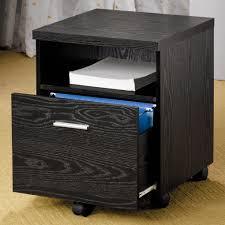 black contemporary file cabinet  filing cabinets