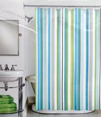 Buy Peri Henley Stripe Cotton Fabric Shower Curtain Green Aqua