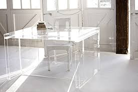 Acrylic office desk Cheap View In Gallery Globalmarketcom Acrylic Home Office Desks For Clearly Fabulous Work Space