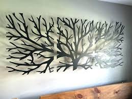 tree wall sculpture wall tree art metal wall art decor sculpture 3 piece tree brunch modern