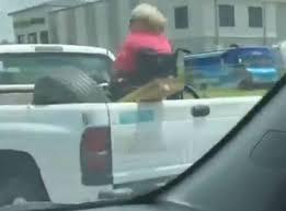 REDNECK VIDEO ALERT: Grandma Rides in Back of Pickup... In Her Wheel ...
