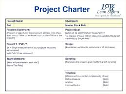 Free Team Project Management Project Management Charter Template