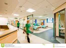 Modern Hospital Interior Design View Over A Modern Hospital Room Stock Photo Image Of