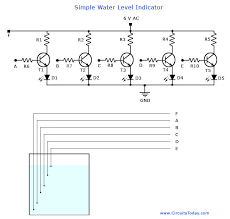 water level indicator circuit liquid level sensor project water level indicator